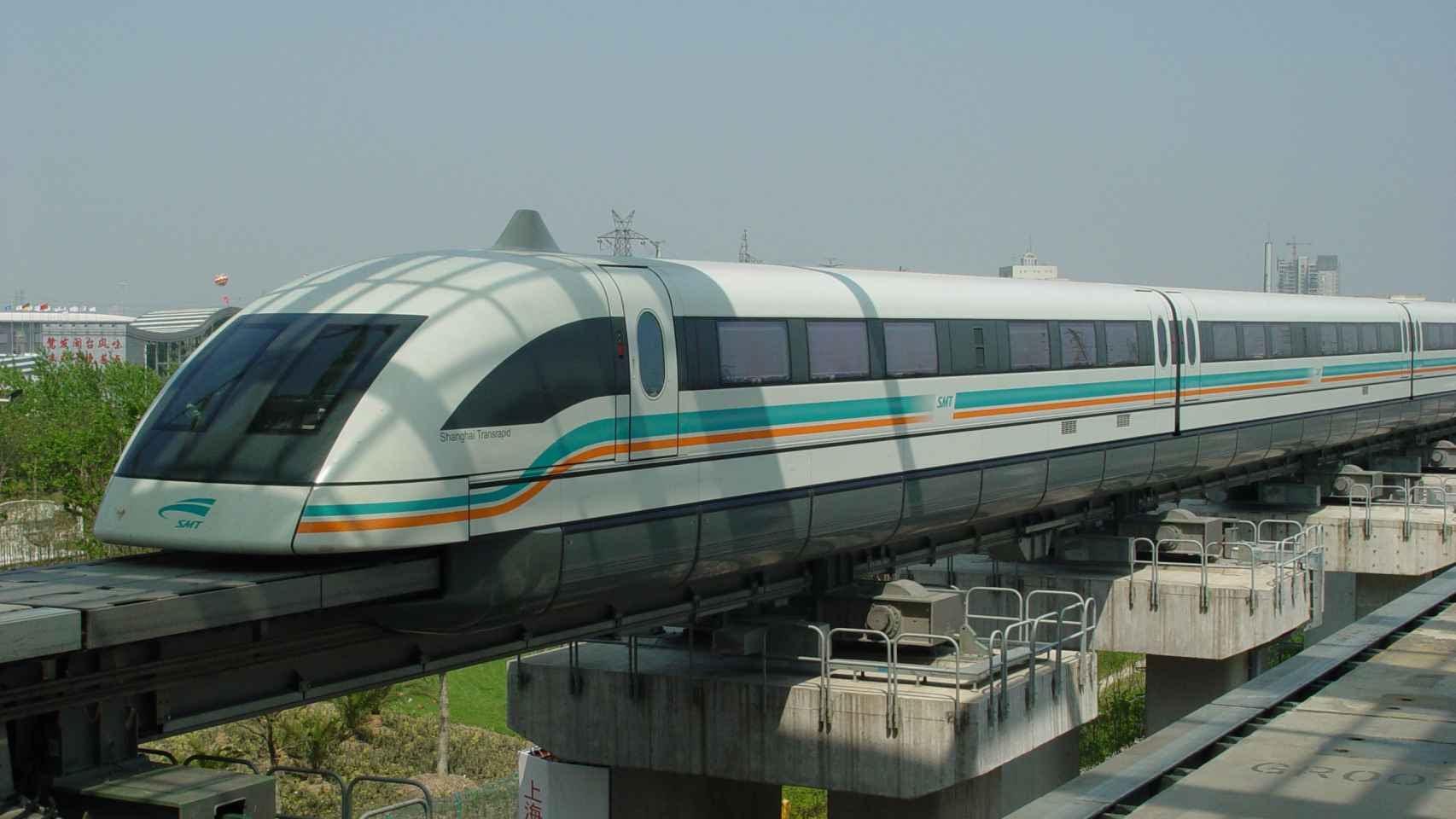Tren de levitación magnética en Shangái